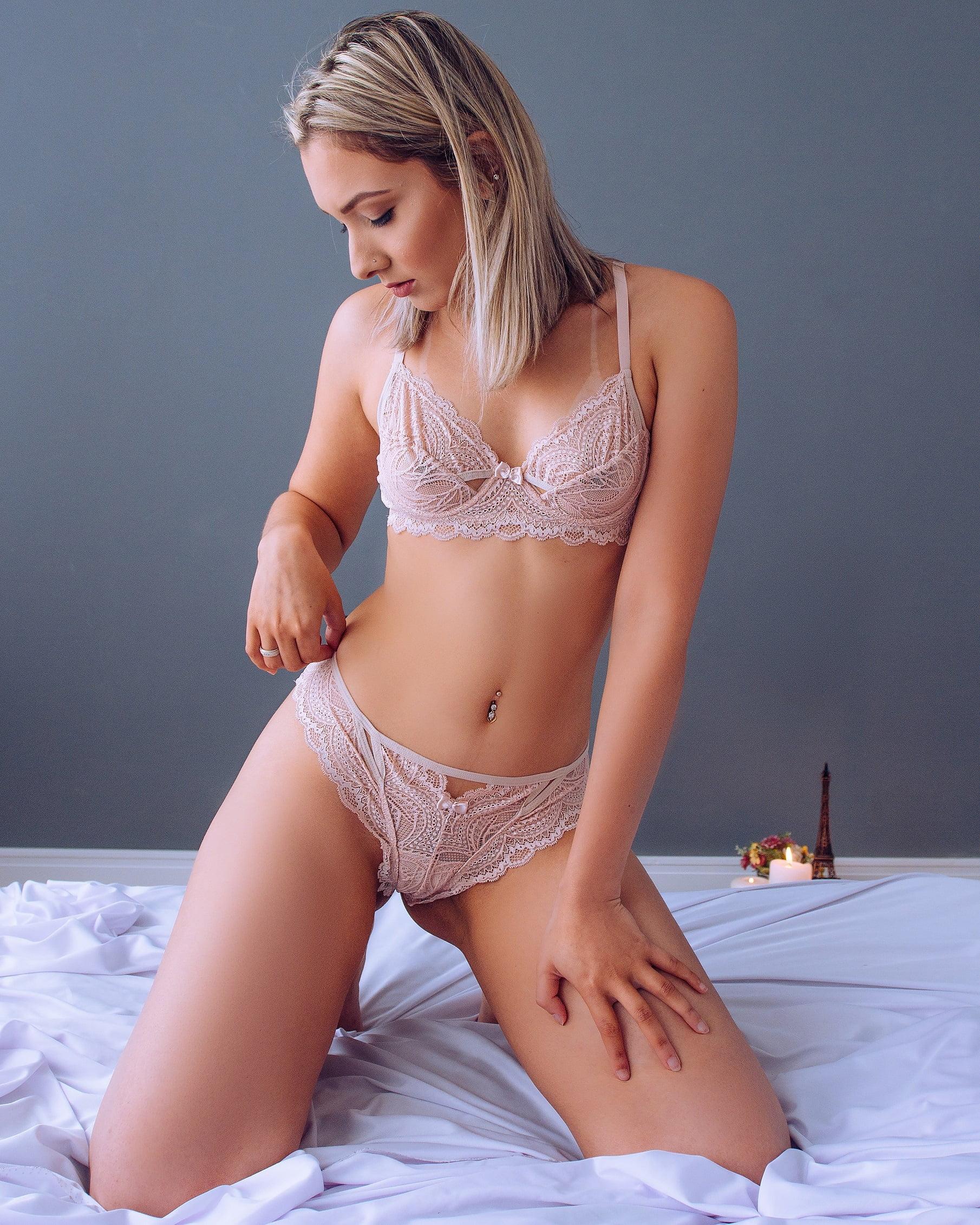 Conjunto Rendado Milka - Slim Nude