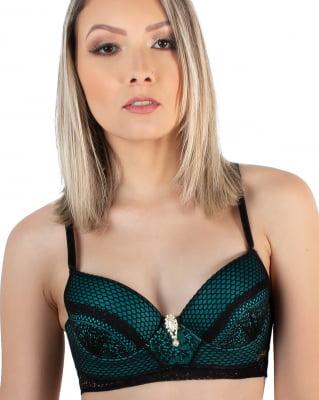 Conjunto Barbatana Bicolor Arrasa - Slim Preto com Verde