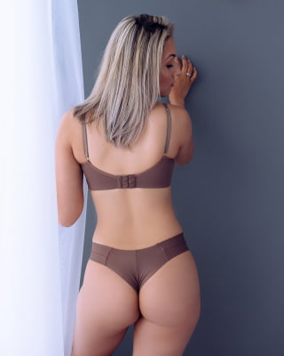Conjunto Básico Cruzado Lanlan - Slim Castanho