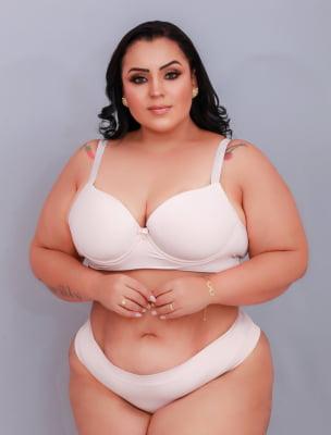 Conjunto Base de Espuma Dia a Dia Fashion - Plus Nude